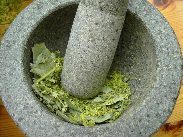 Mortar, Frauenmantel, Alchemy, Plant