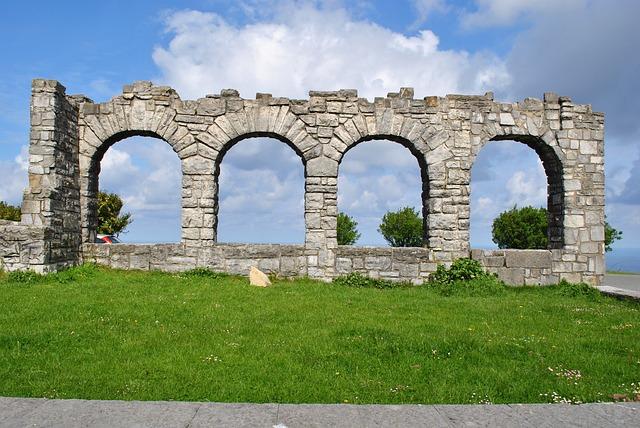 Ruin, Lawn, Nature, Garden, Grass, Plant, Sky, Green