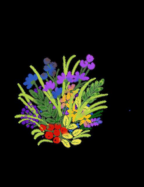 Flowers, Watercolor, Decoration, Plant, Leaves, Bloom