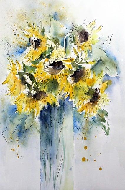 Watercolour, Flower, Nature, Plant, Background, Color