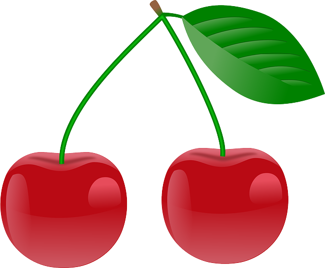 Cherry, Red, Ripe, Two, Fruits, Plants, Food, Edible