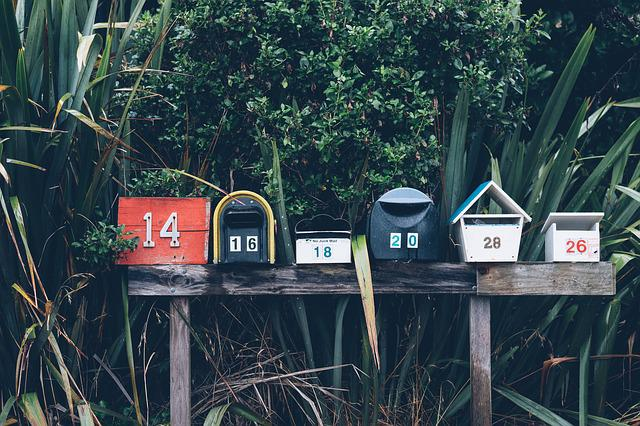 Mailboxes, Numbers, Plants