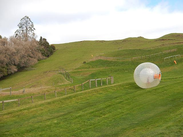Zorb, Zorbing, Rolling Downhill, Sphere, Plastic, Fun