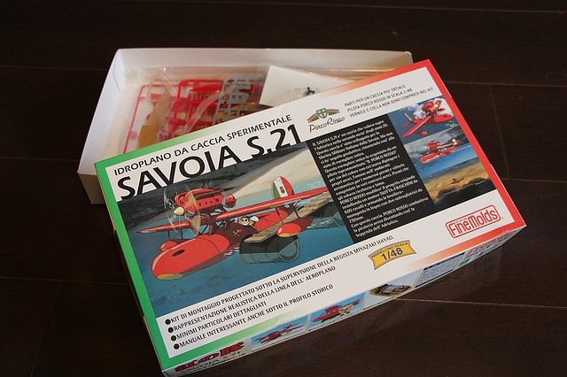 Porco Rosso, Plastic Model, Toy, Assembly, Plane