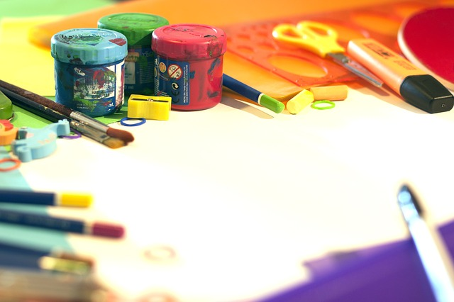 School Supplies, Color, Plastic, Painting, Tempera