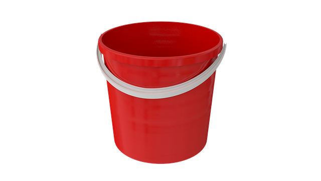 Bucket, Cleaning, Wash, Capacity, Pen, Plastic, Red
