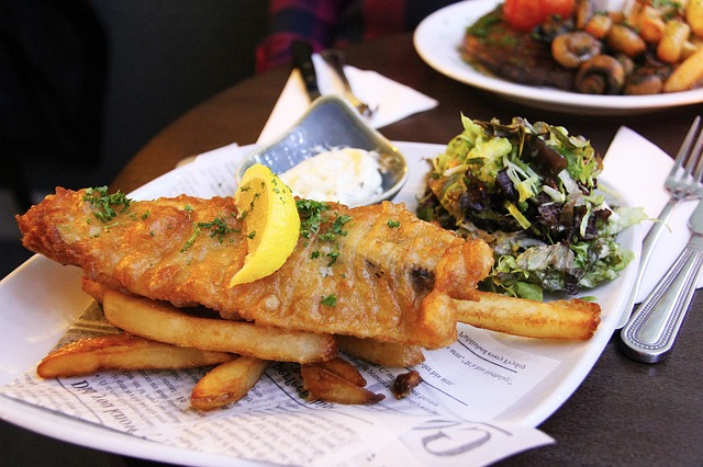 Fish And Chip, Fried, Fish, Chip, Fries, Food, Plate