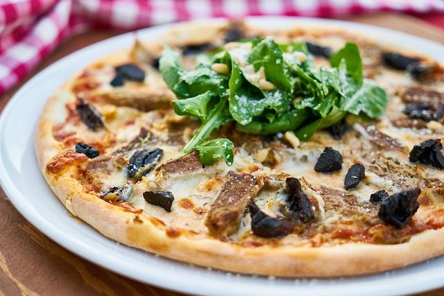 Pizza, Plate, Dough, Italian, Italy, Table, Flour