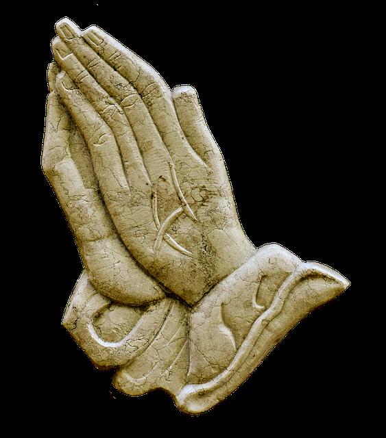 Praying Hands, Religious, Granite, Plate, Ornament