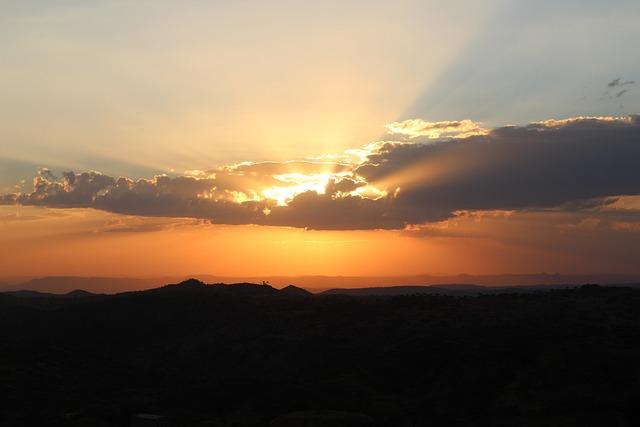 Africa, Eritrea, Borders, Sunset, Landscape, Plateau