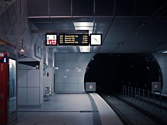 Metro, Railway Station, Platform, Train, Architecture