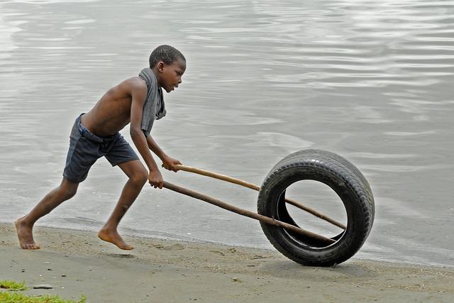 Boy, Ghana, Play, Beach