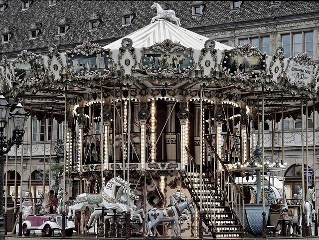 Child, Play, Playground, Leisure, Carousel, Old