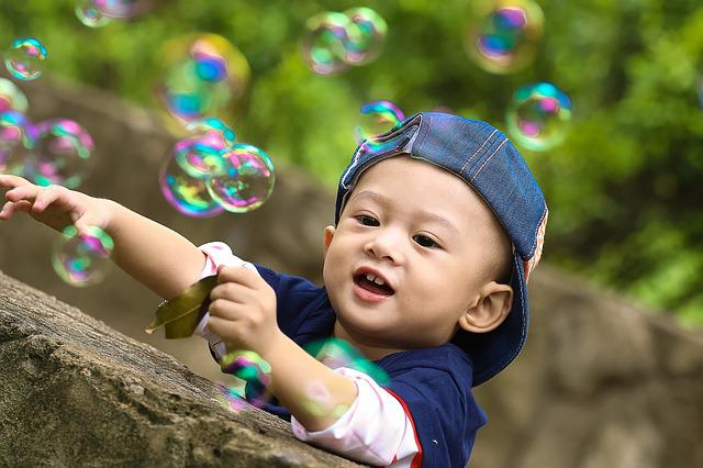 Play, Park, Kid, Ku Shin, Child, The Park, Soap Bubbles