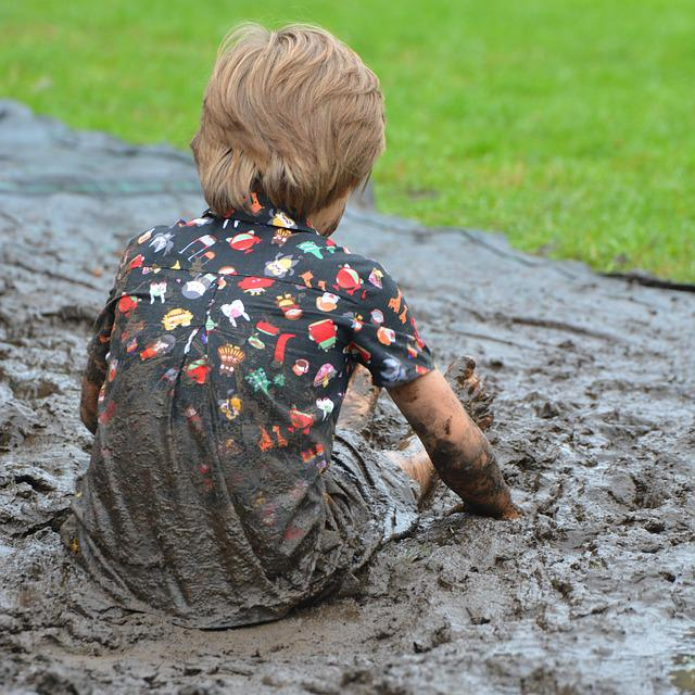 Child, Boy, People, Mud, Dirt, Filthy, Play