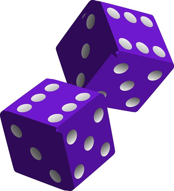 Dice, Die, Purple, Game, Play, Gaming, Gambling, Luck