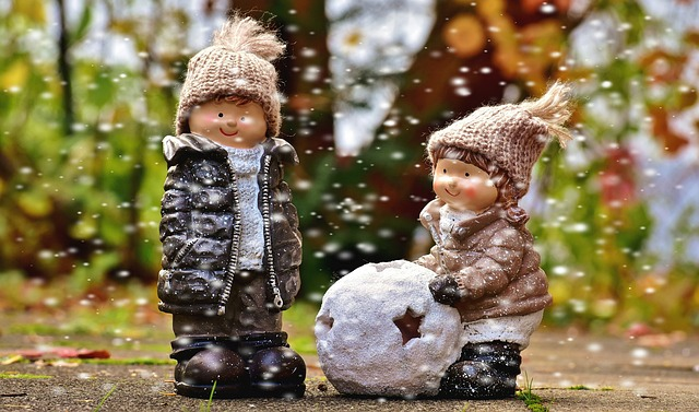 Snow, Children, Boy, Girl, Play, Figures, Funny, Cute