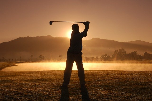 Notice, Golf, Thailand, Game, Play, Man, Sunset, Kick