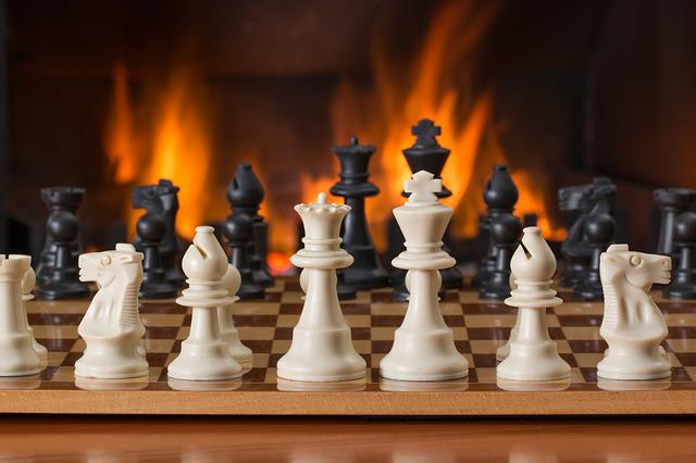 Chess, Board Game, Fireside, Strategy, Play