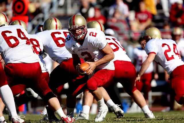 Football, Quarterback, Team, Scrimmage, Game, Play