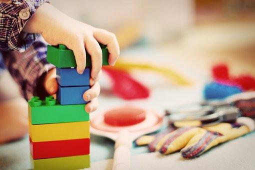 Child, Tower, Wooden Blocks, Kindergarten, Play, Toys