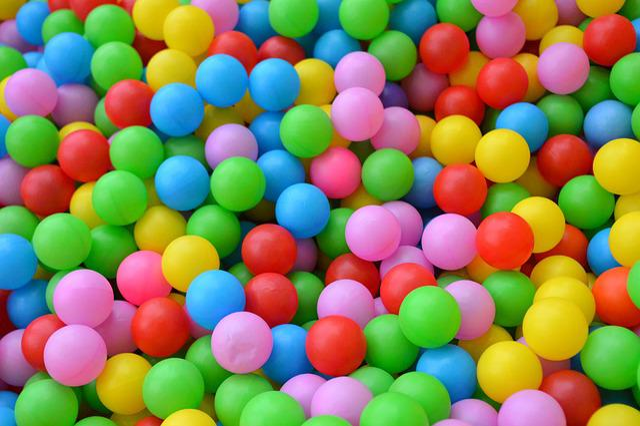 Balls, Children's Playground, Multicolored, Playground