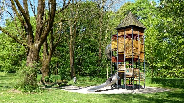 Playground, Plant, Trees, Green, Nature
