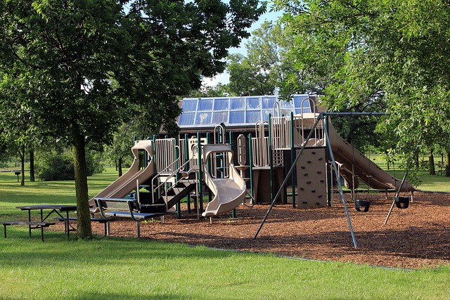 Playground, Recreational Area, Usa, Wisconsin