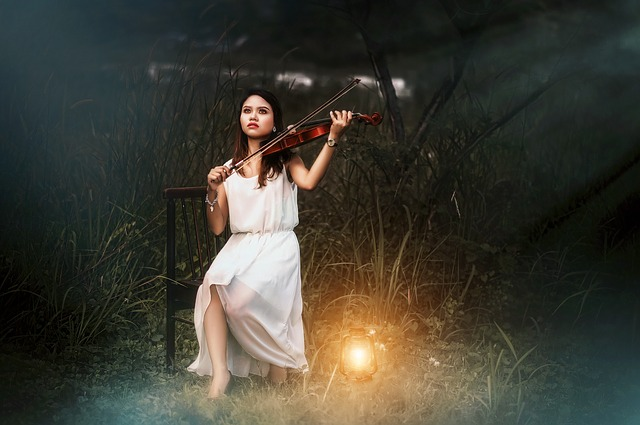 Violin, Girl, White, Playing, Music, Free Image