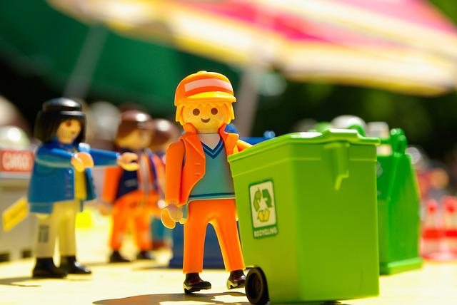 Playmobil, Toy, Garbage Collector, Miniature