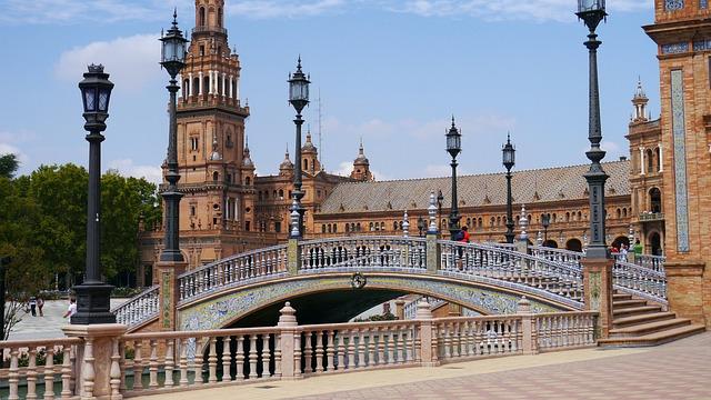 Sevilla, Plaza España, Yard, Architecture