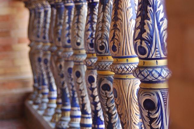 Seville, Andalusia, Plaza España, Ceramic