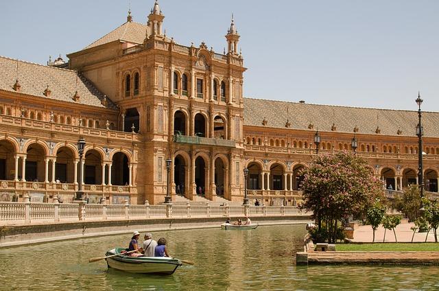 Seville, Plaza Espanya, Landmark, City, Sevilla