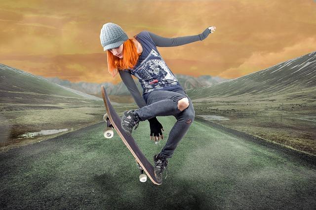 Girl, Action, Sport, Movement, Fast, Active, Pleasure