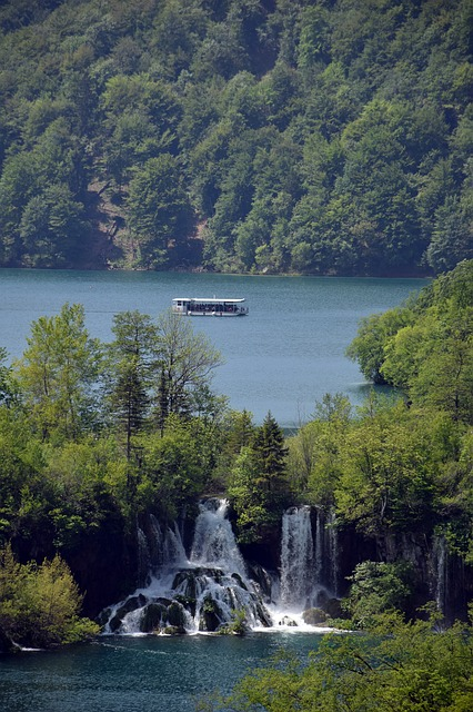 Plitvice National Park, Waterfall, Water, Green