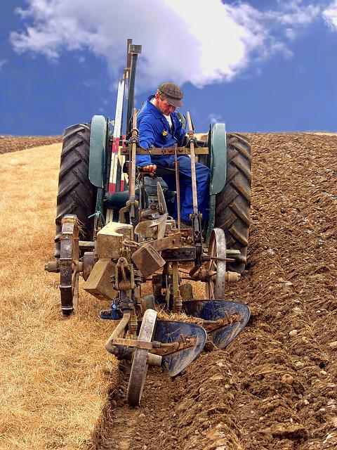 Farming, Ploughing, Agriculture, Plough, Soil, Rural