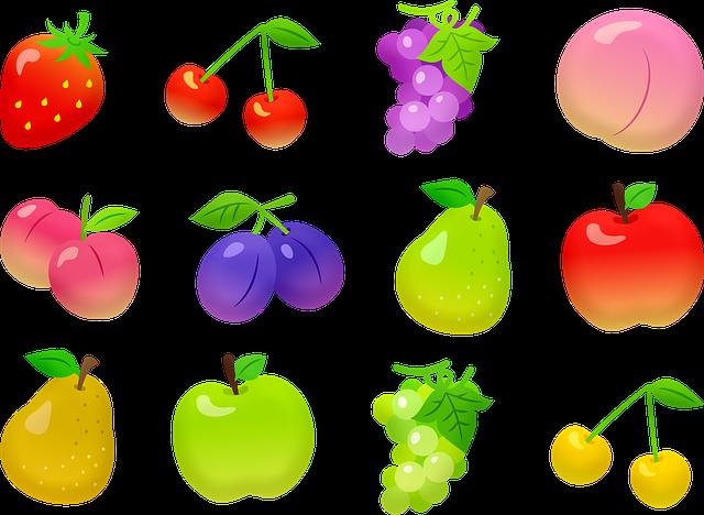 Fruit, Apples, Pears, Grapes, Cherries, Plums