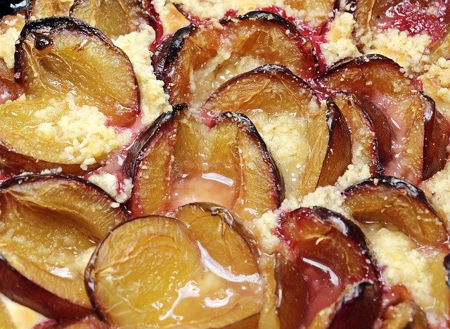 Plums, Crumble Cake, Pastry, Streuselkuchen, Food
