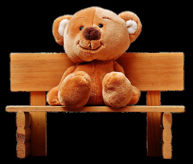 Teddy, Bank, Sit, Teddy Bear, Bear, Fun, Plush, Funny