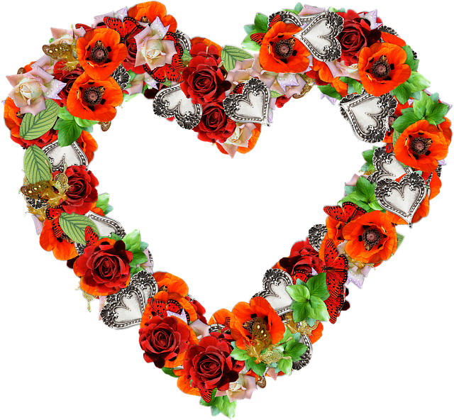 Heart, Flowers, Png, Love, Valentine, Red, Scrapbooking