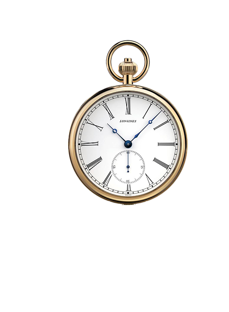 Clock, Pocket Watch, Isolated, Wind Up, Close, Golden