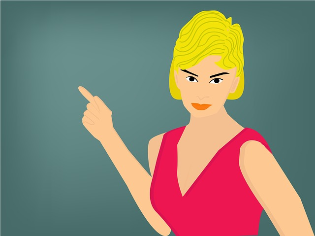 Pointing Finger, Girl, Woman, Female, Finger, Hair