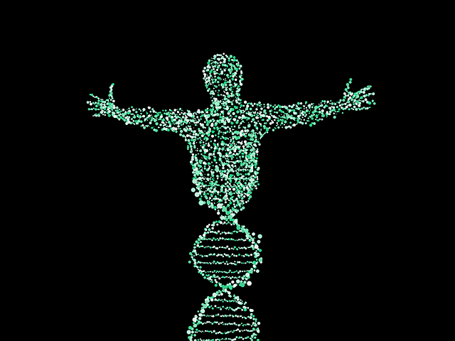 Man, Dna, Spiral, Biology, Merge, Points, Pattern