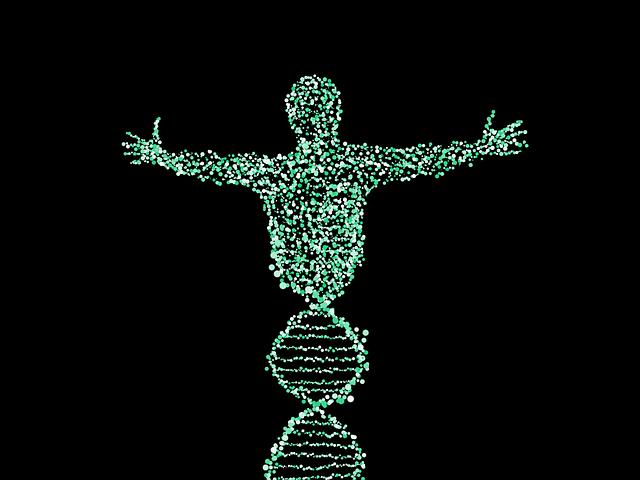 Man, Dna, Spiral, Biology, Merge, Points, Pattern