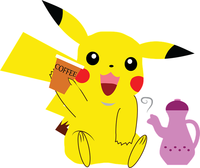 Pokemon, Pikachu, Coffee