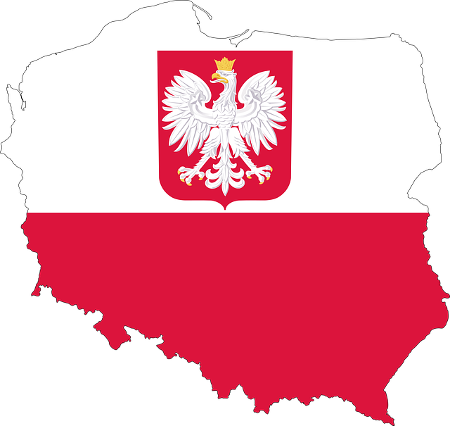 Poland, Country, Europe, Flag, Borders, Map, Nation