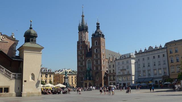 Krakow, Poland, St Mary's Church, Rynek Glowny