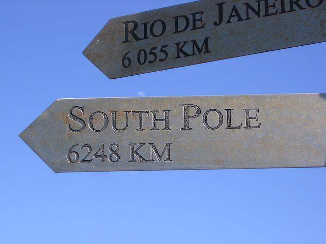 Sign, South Pole, Pointing, South, Pole, Travel