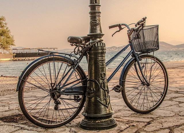 Bicycle, Promenade, Pole, Summer, Leisure, Seaside