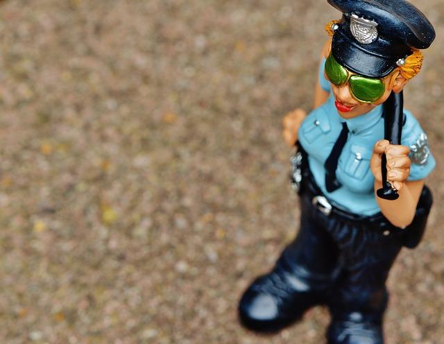 Policewoman, Funny, Fig, Police